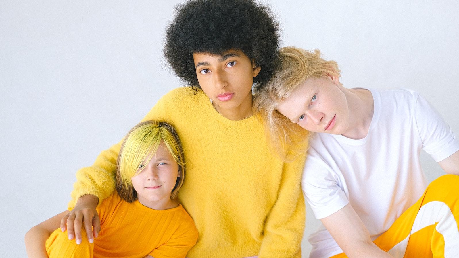 Gruppe von jungen Auszubildenden